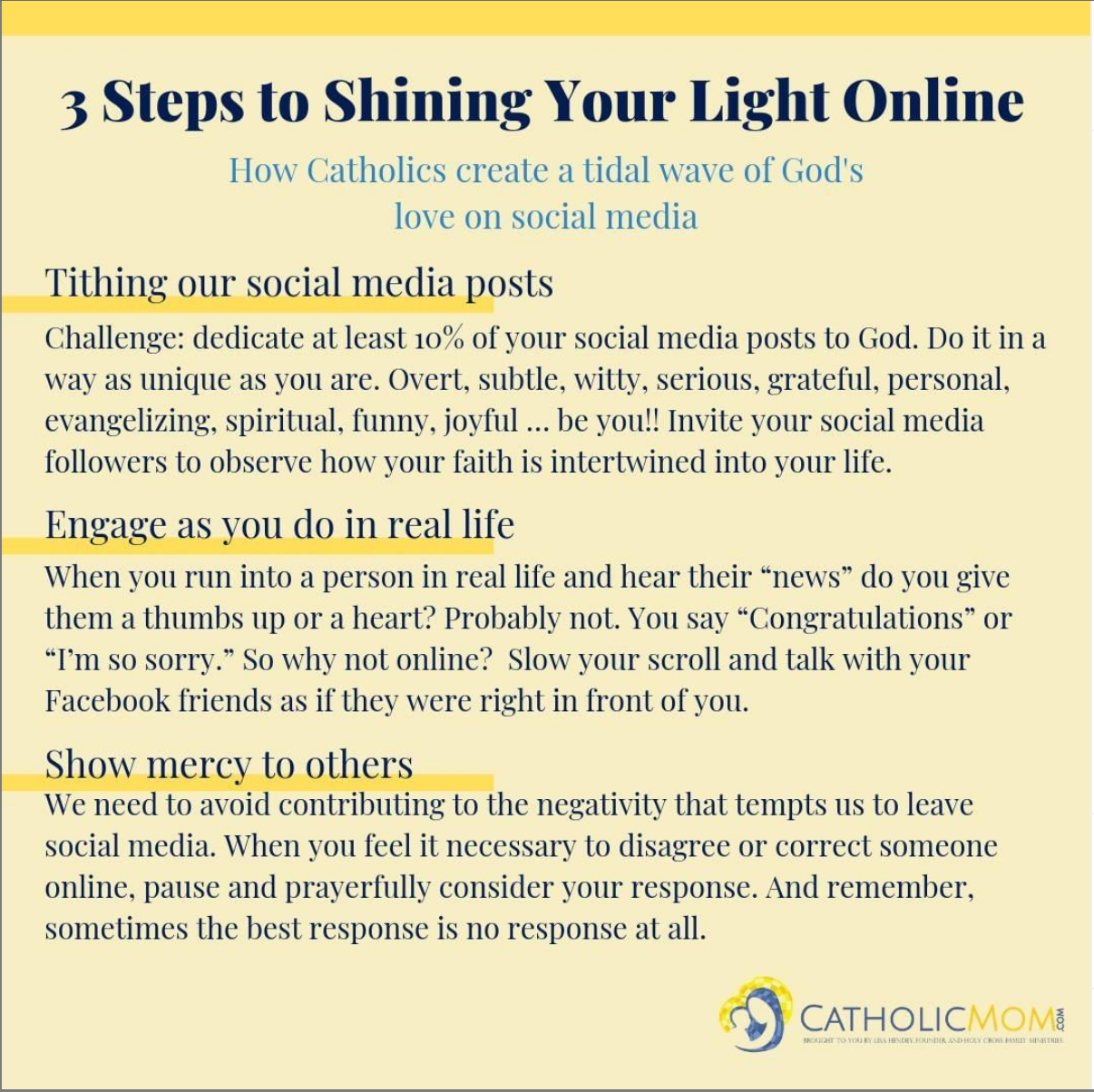 2020 0629 LJones-3 steps to shine light online-CatholicMom