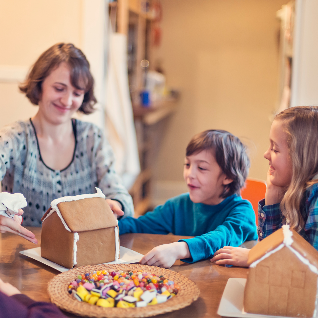 family building gingerbread houses