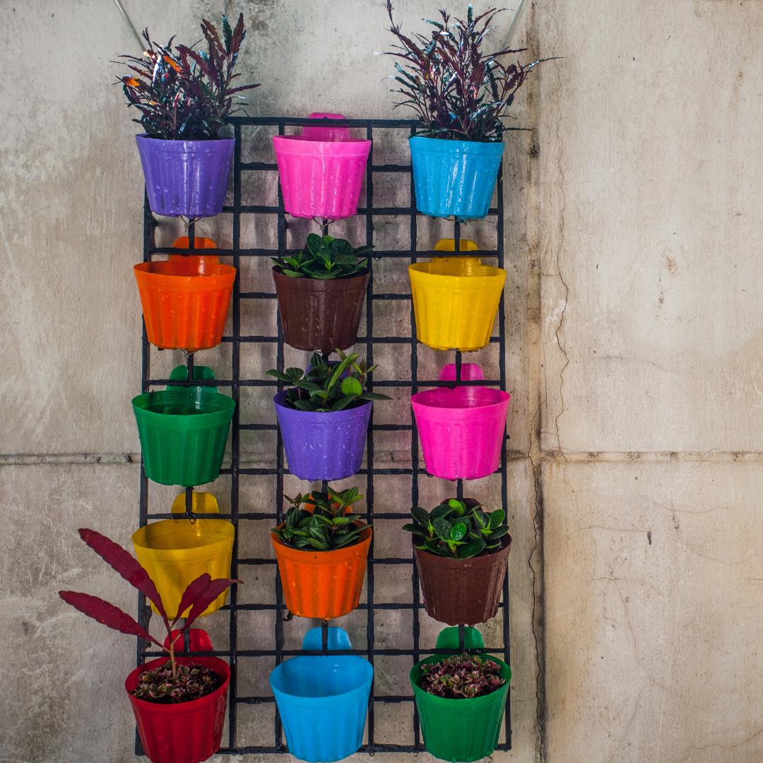 colorful flowerpots