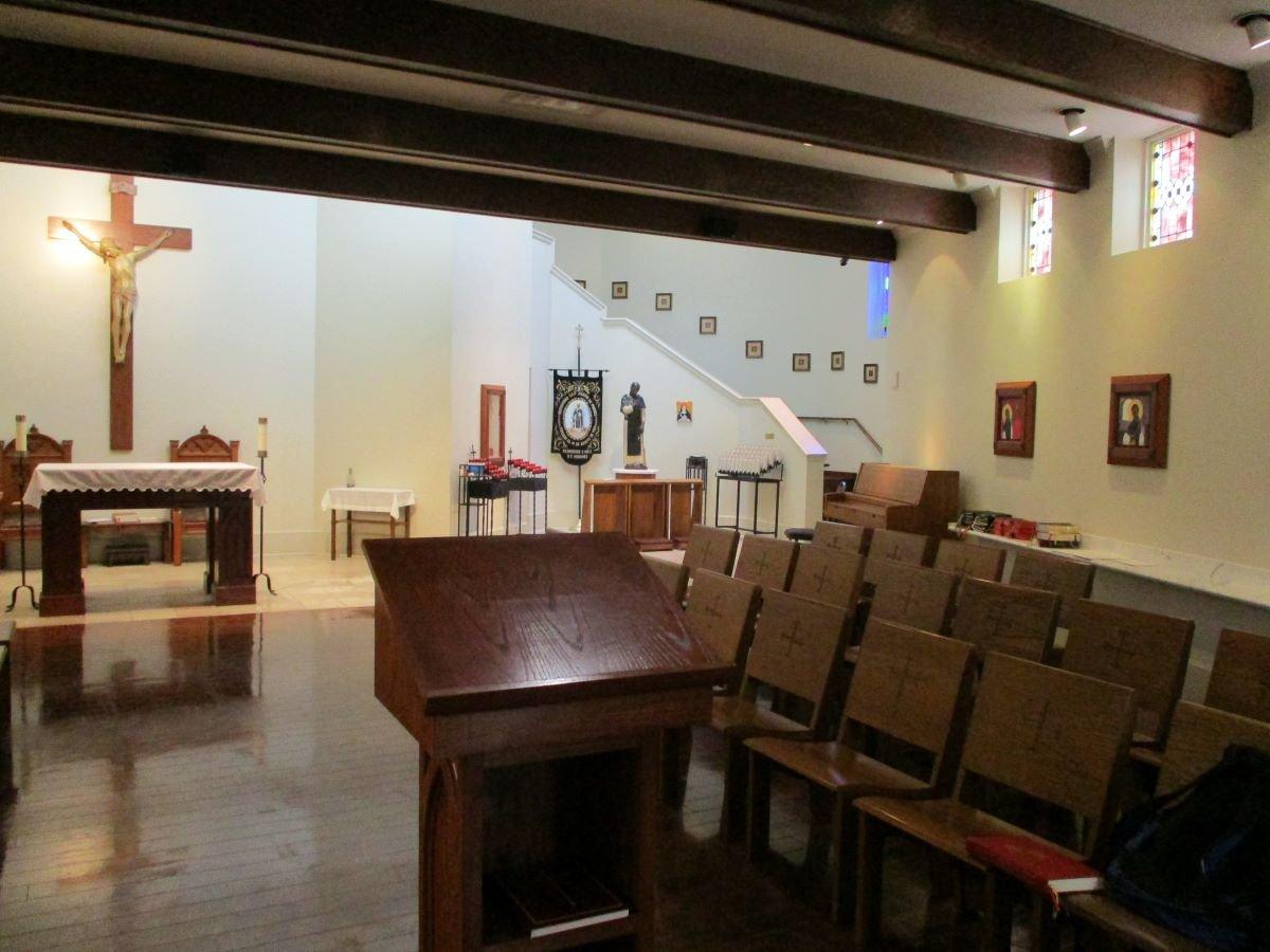 Interior: National Shrine of St. Martin de Porres. Copyright 2020 AnneMarie Miller, all rights reserved.