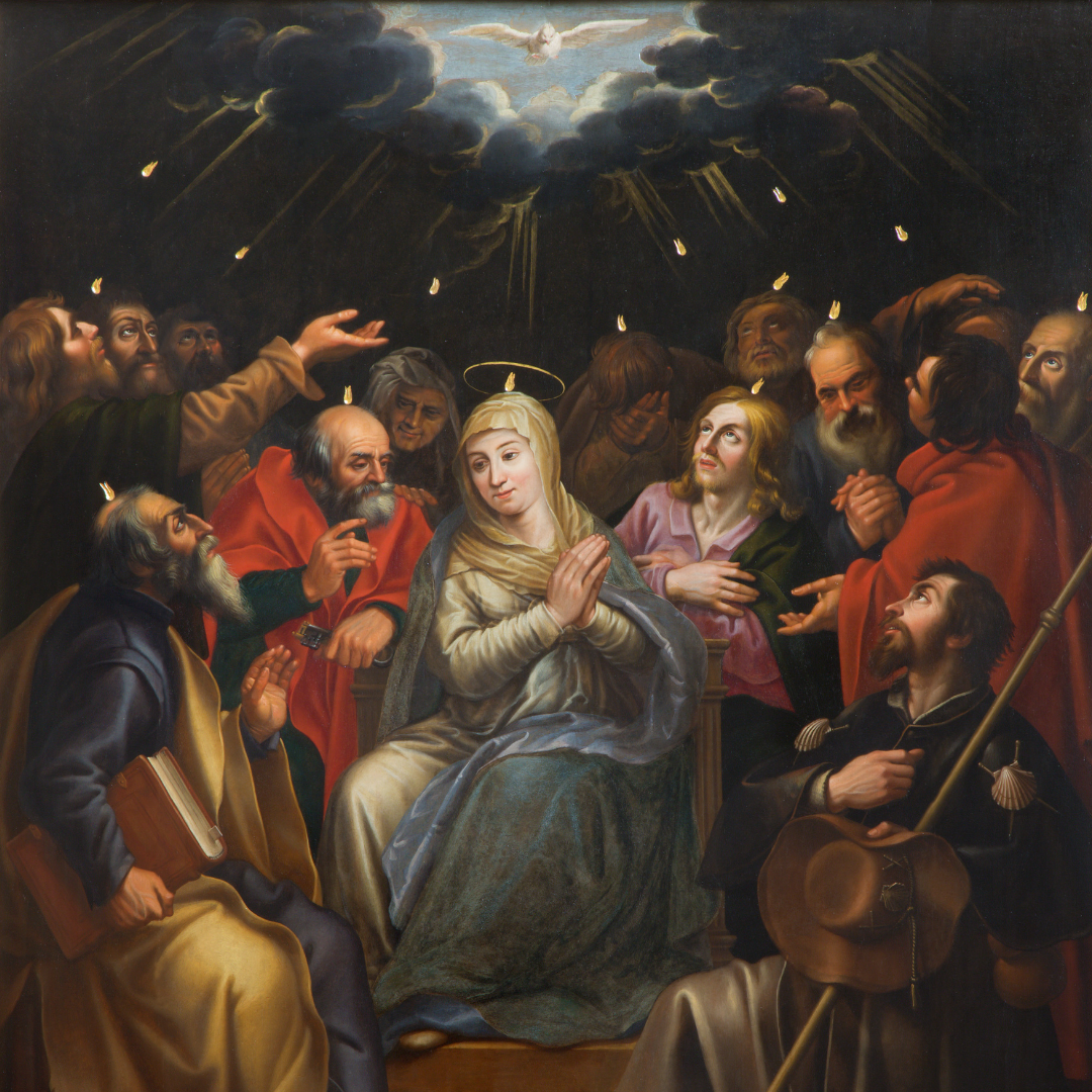 Descent of the Holy Spirit on Mary and the Apostles