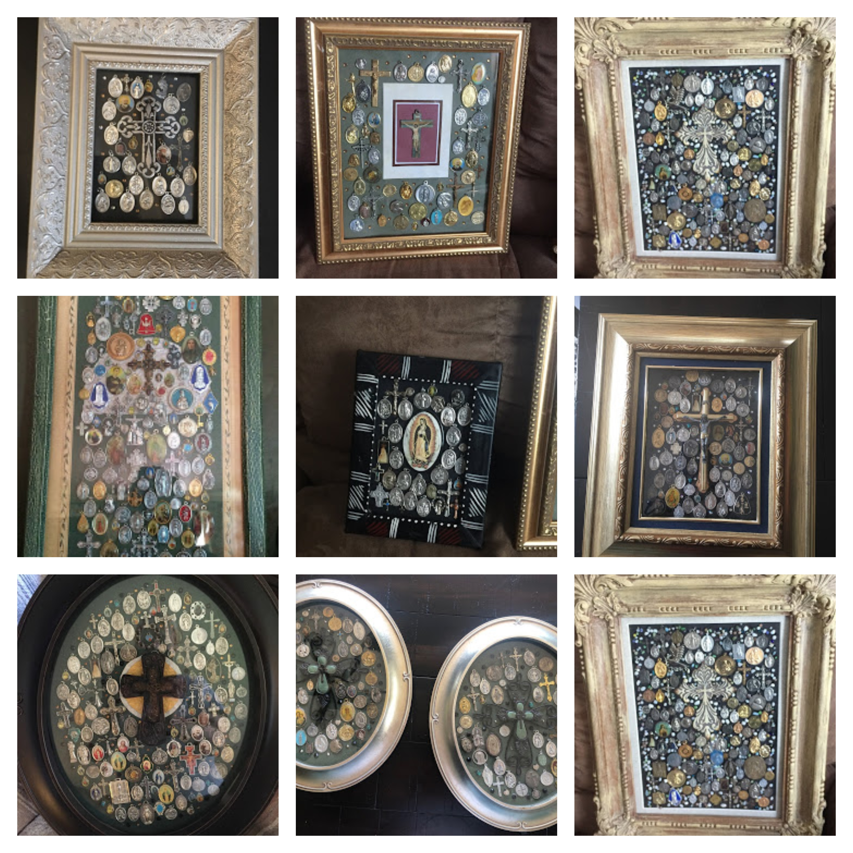 collage of medal mosaics