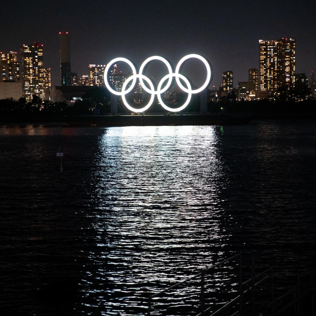 Olympics rings in Tokyo