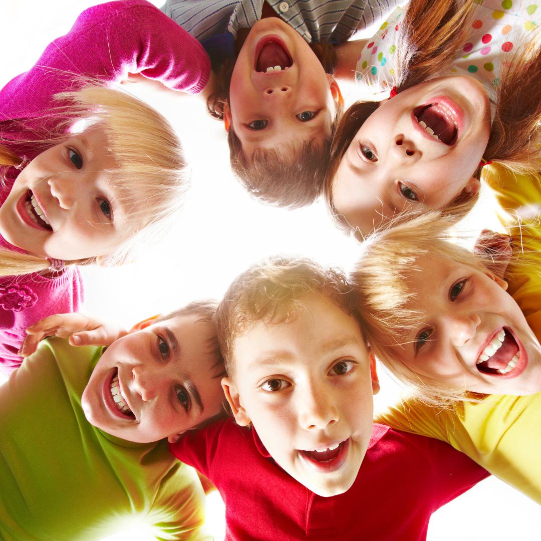 bunch of happy children