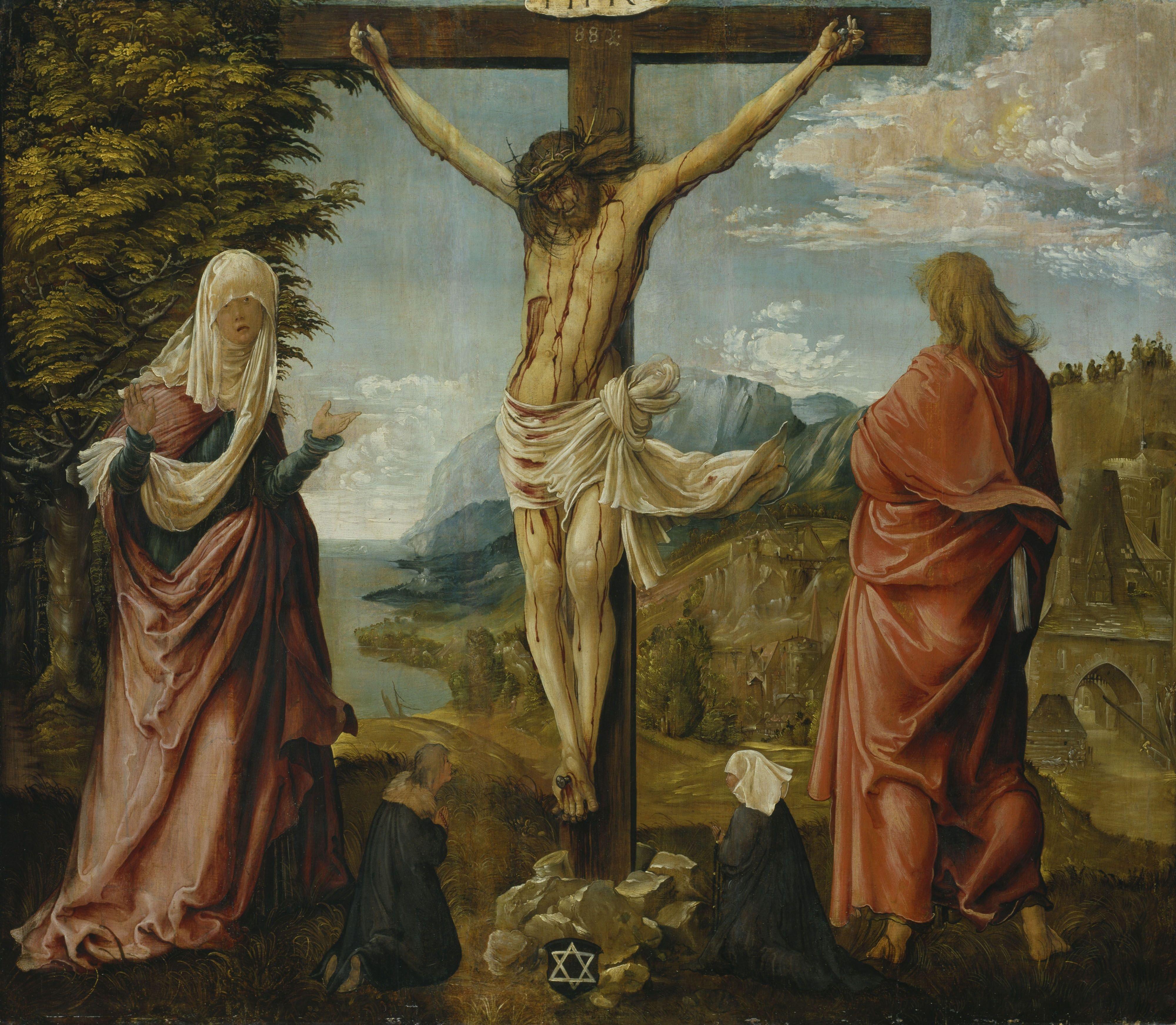 Albrecht_Altdorfer_-_Christ_on_the_Cross_between_Mary_and_St_John_-_WGA00214