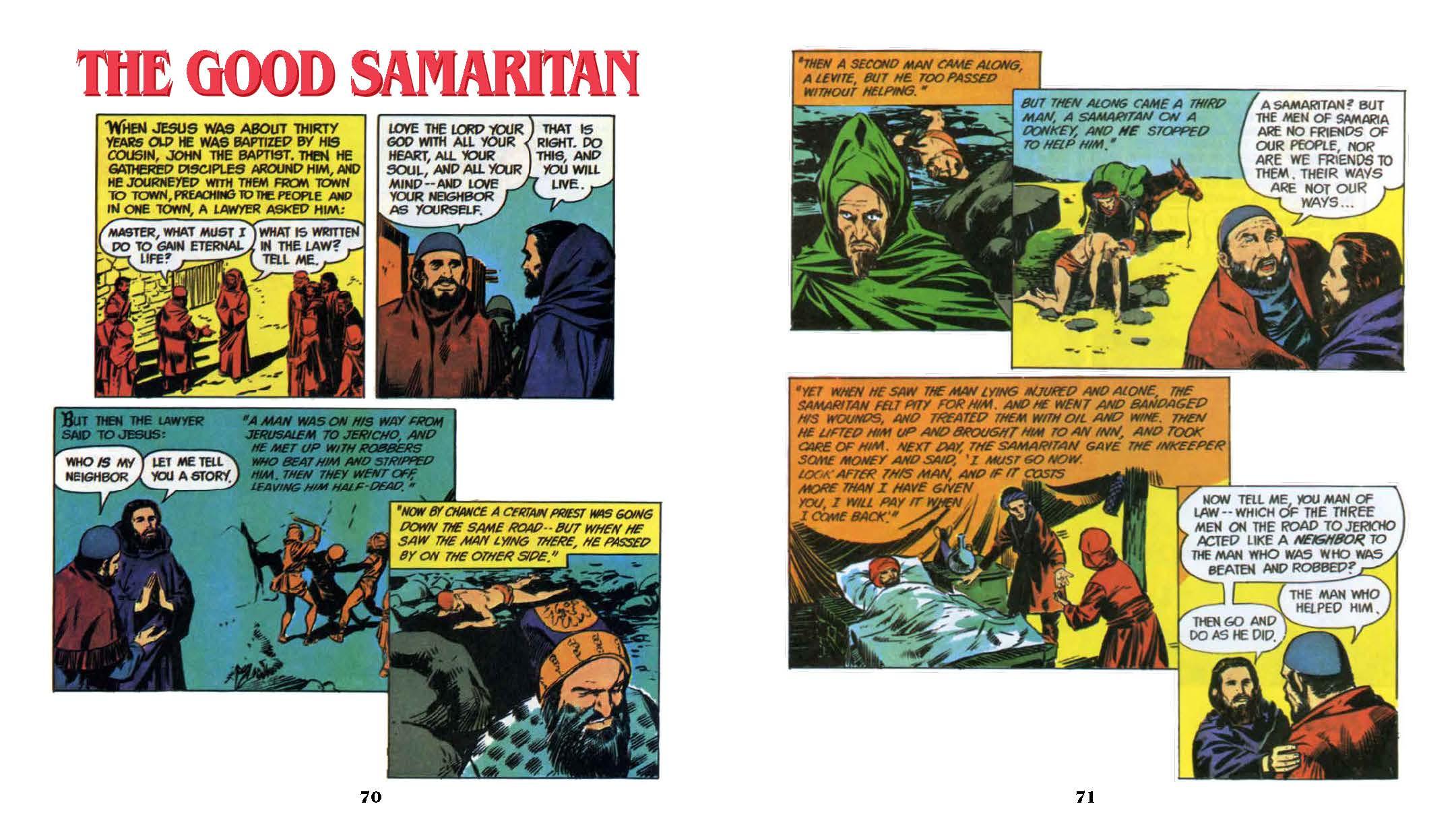 Classic Bible Comics-The Good Semaritan