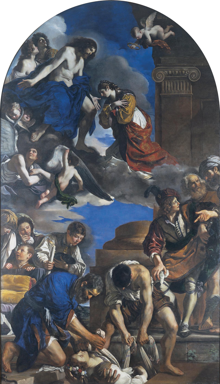 Guercino_-_Burial_of_Saint_Petronilla_-_Google_Art_Project