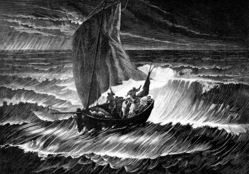 Wynn, Steven. Jesus Christ Sleeps in Boat through Storm. Getty Images.