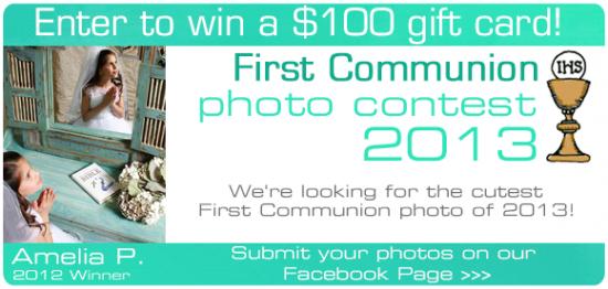 Enter The Catholic Company's First Communion Photo Contest