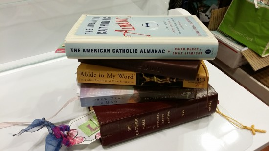 My morning prayer book stack as it looked today...