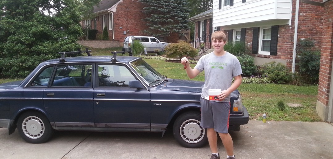 Copyright 2015 Lori Hadorn-Disselkamp My oldest son with his first car