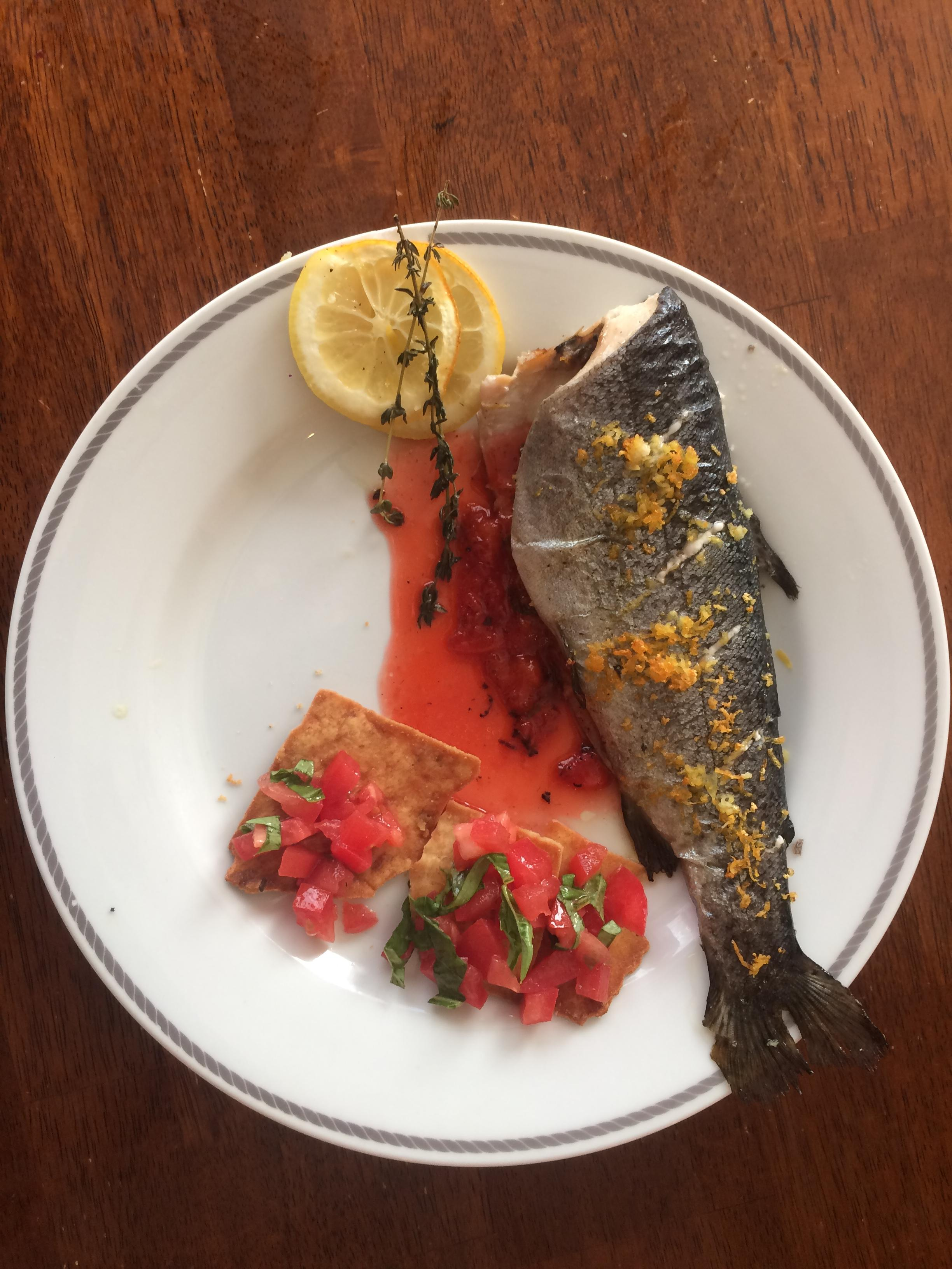 """Baked rainbow trout"" by Karen Ullo (CatholicMom.com)"
