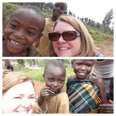 """Wednesday's """"selfies"""" with Rwandan kids"""