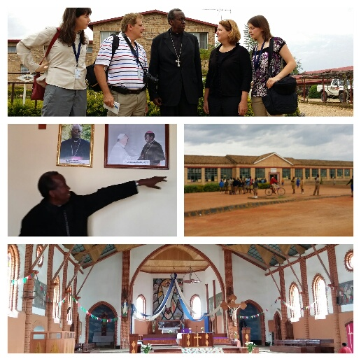 Morning Visit with Bishop Smaragde Mbonyintege and to Cathedral Basilica of Our Lady