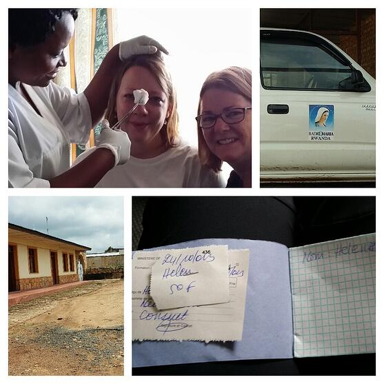 Sweet Helen's injury and our visit/field trip to a Rwandan hospital.