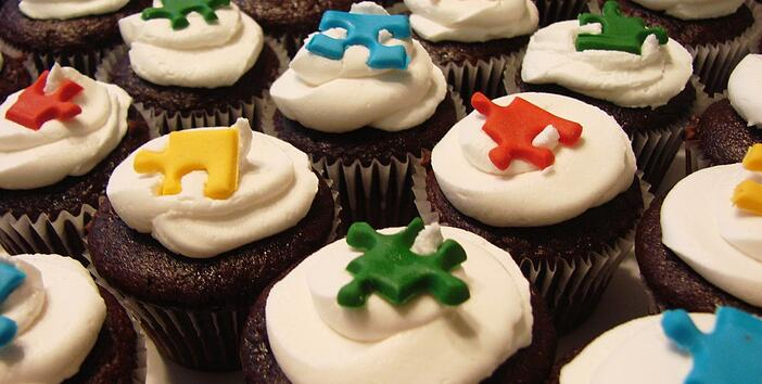 """""""Autism cakelet with cupcakes"""" by Amy Eilert (2006) via Flickr. All rights reserved."""