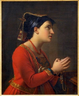 Moritz Calisch,Young woman in prayer:  Wikipedia commons