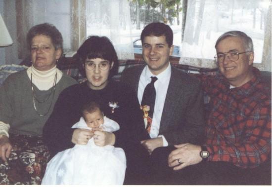 First Born's Christening circa 1996