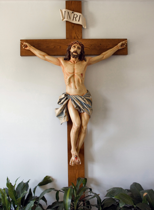 Crucifix from Betania II, Medway.MA. Used with permission.