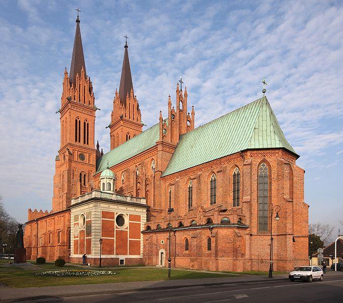 Cathedral in Wlocawek, Poland, Pko, 2009, via Wikimedia Commons