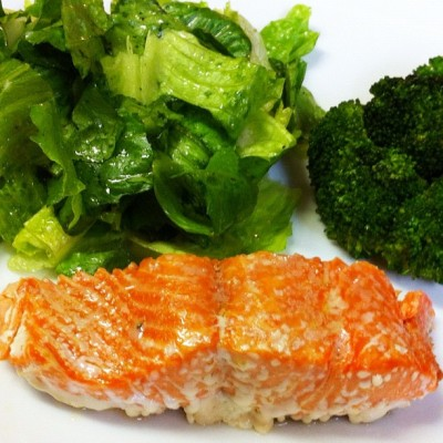 Baked Salmon with Olive Oil and Salt