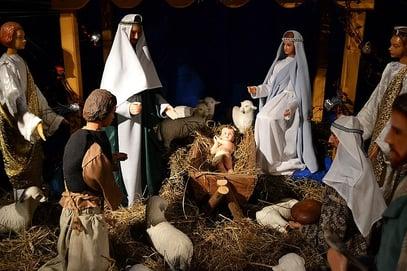 Weihnachtskrippe in der Sanoker Minoritenkirche courtesy of Wikimedia Commons