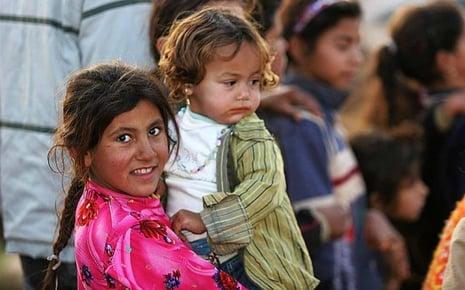 Iraqi Refugee Children in Damascus, Syria