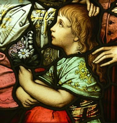 976px-LA_Cathedral_Mausoleum_Jesus_and_the_children_detail1
