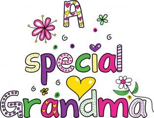 A Special Grandma Word Art
