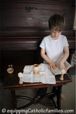 Adam plays Mass Equipping Catholic Families