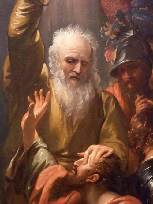 Ananias baptizes Saul