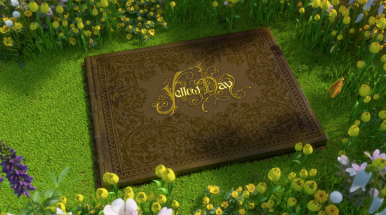 Animated Yellow Day Book Green Grass