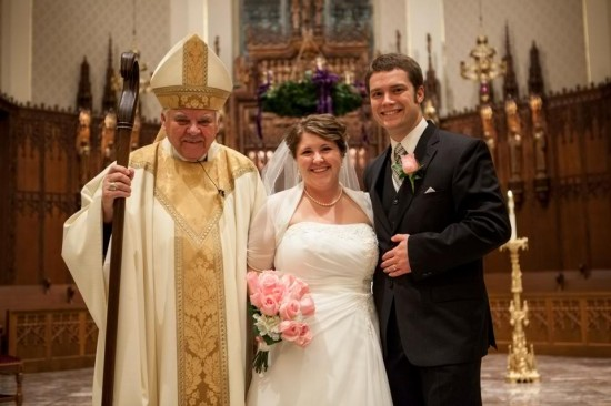 Bishop D'Arch and Mr. and Mrs. Swaim