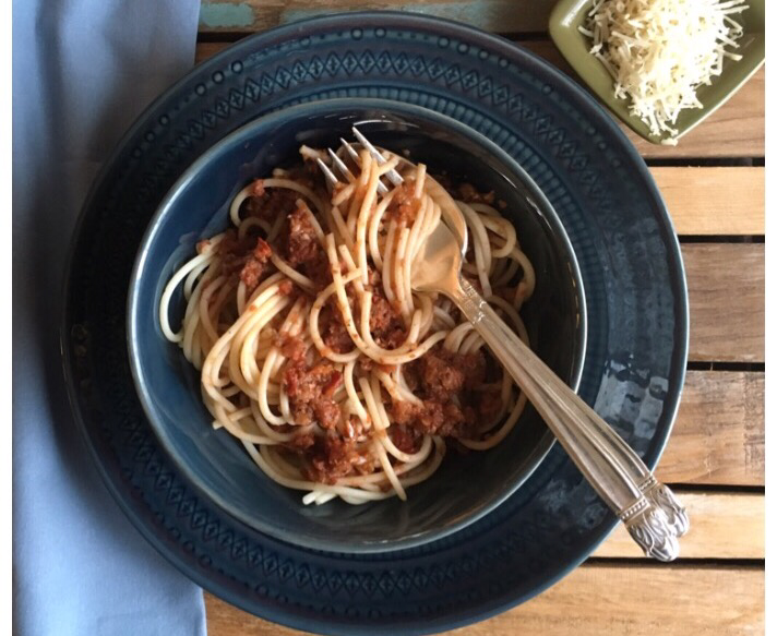 Meatless Friday: Walnut Bolognese Sauce by Catherine Hamilton (CatholicMom.com)