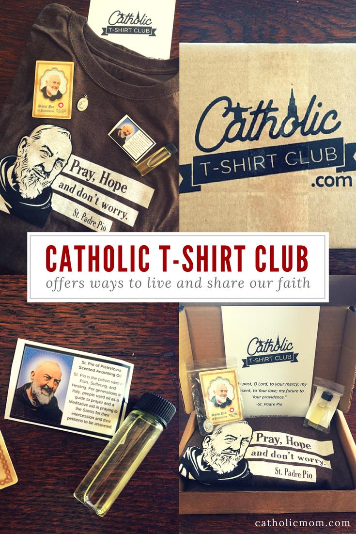 """""""Catholic T-Shirt Club Offers Ways to Live, Share Our Faith"""" by Sarah Damm (CatholicMom.com)"""