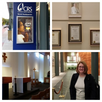 Lisa visiting Catholic Relief Services headquarters in Baltimore.