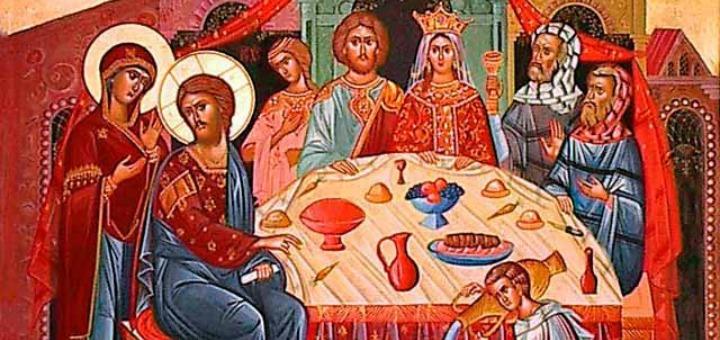 Igor Stoyanov's Icon of the Wedding Feast of Cana at Galilee, Wikimedia Commons