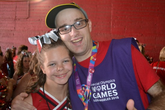 Daniel and Joelle Packard of Maryland who was part of Cheer for LA2015. Photo by Daniel Smrokowski/Special Chronicles.