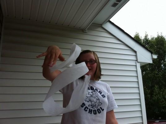 Danielle loves to swirl paper