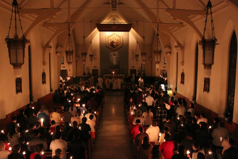 """""""Light just one candle this Holy Saturday"""" by Melanie Jean Juneau (CatholicMom.com)"""