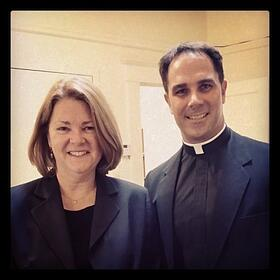 Lisa Hendey with Fr. Donald Calloway