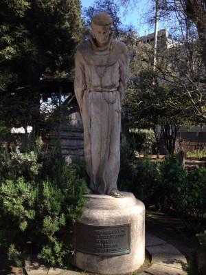 Statue of St. Junipero Serra. Copyright Christine Johnson. All rights reserved.