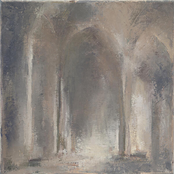 """Fede: Faith, Oil on Canvas, 12"""" x 12"""" ©Michelle Arnold Paine 2012"""