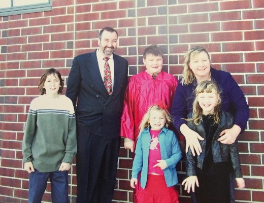 Our family on our son Brendan's Confirmation day