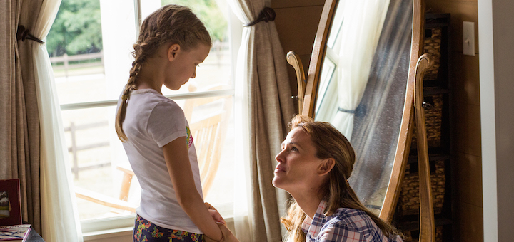Christy (JENNIFER GARNER) assures Anna (KYLIE ROGERS) that everything will be alright in Columbia Pictures' MIRACLES FROM HEAVEN. Image courtesy of Columbia Pictures. Used with permission.