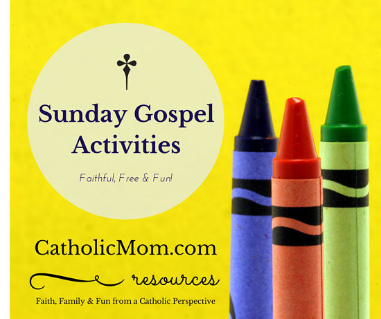 Catholic Coloring and Gospel Worksheet Activites