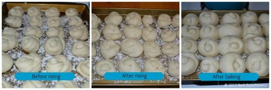 Granma's rolls tutorial collage
