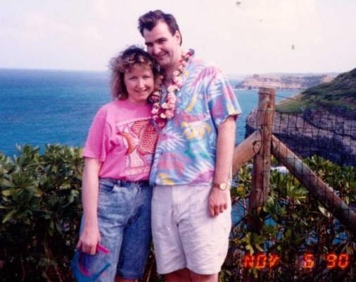 On our honeymoon in Hawaii