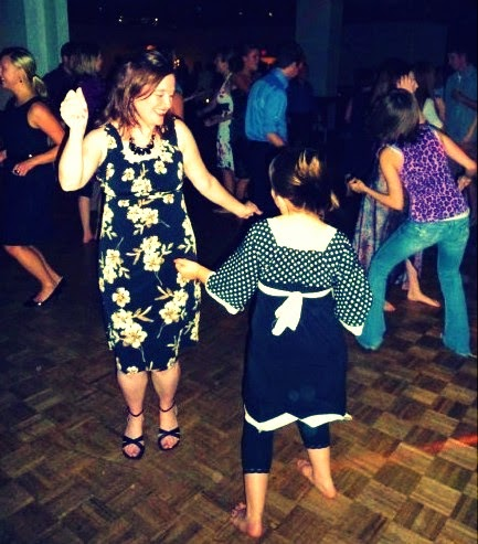 Being gutsy on the dance floor with my daughter several years ago