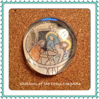 teaching stations of the cross project magnets activity kids families children